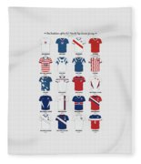 The Evolution Of The Us World Cup Soccer Jersey Fleece Blanket