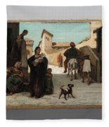 The Fable Of The Miller  His Son  And The Donkey  Fleece Blanket