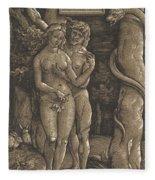 The Fall Of Mankind, 1511  Fleece Blanket