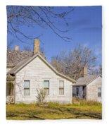 The Farmhouse, Washhouse And Garage Fleece Blanket