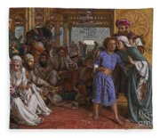 The Finding Of The Savior At The Temple Fleece Blanket