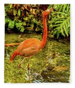 The Flamingo Fleece Blanket