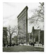 The Flatiron Building 1903 Fleece Blanket