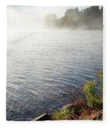 The Fog Rolls  Fleece Blanket