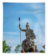 The Fountain Of Rometta Fleece Blanket