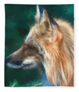 The Fox 235 - Painting Fleece Blanket