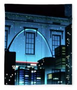 The Gateway Arch And The City Fleece Blanket