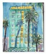 The Georgian Hotel, Santa Monica Fleece Blanket