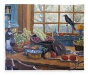 The Good Harvest Country Kitchen By Richard Pranke Fleece Blanket