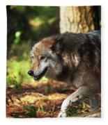 The Gray Wolf Fleece Blanket