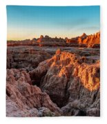 The High And Low Of The Badlands Fleece Blanket