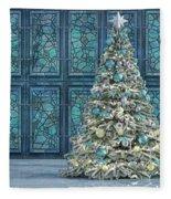 The Hoping Holiday Frog Fleece Blanket