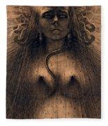 The Idol Of Perversity, 1891 Fleece Blanket