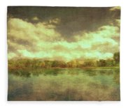 The Lake - Panorama Fleece Blanket