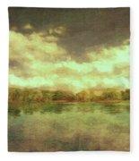 The Lake - Panorama Fleece Blanket