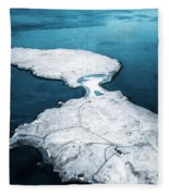 The Land Of Solitude Fleece Blanket