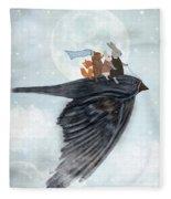 The Light Bird Fleece Blanket