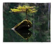 The Little Tree On Fairy Lake 5 Fleece Blanket