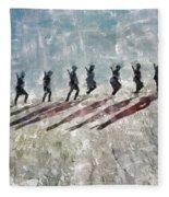 The Long Walk, World War Two Fleece Blanket