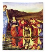 The Mirror Of Venus 1875 Fleece Blanket