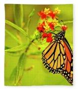 The Monarch Butterfly Fleece Blanket