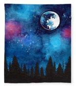 The Moon Fleece Blanket