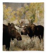 The Moose Rut Fleece Blanket