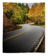 The Mountain Road Fleece Blanket