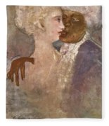 The Mulatto And The Sculpturesque White Woman 1913 Fleece Blanket