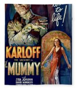 The Mummy 1932 Film Fleece Blanket