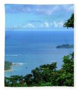 The North Bay As Seen From Mount Harriett Fleece Blanket