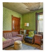 The Old Farmhouse Living Room Fleece Blanket