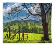 The Old Red Gate Fleece Blanket