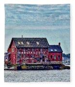 The Paint Factory, Gloucester, Massachusetts Fleece Blanket