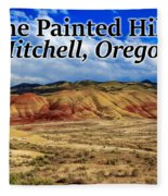 The Painted Hills Mitchell Oregon 02 Fleece Blanket