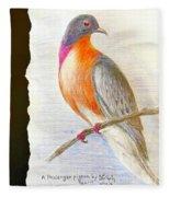 The Passenger Pigeon  Fleece Blanket
