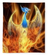 The Phoenix Rises From The Ashes Fleece Blanket