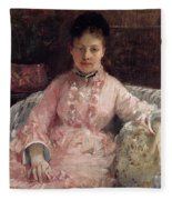 The Pink Dress Also Known As Poop - 1870 - Pc Fleece Blanket