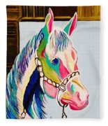 The Pink Horse Fleece Blanket