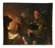 The Pipes By Firelight Fleece Blanket