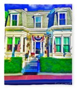 The Prince Albert Guesthouse-provincetown, Massachusetts  Fleece Blanket