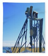 The Provider At Chatham Fish Pier Fleece Blanket