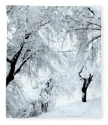 The Pure White Of Snow Fleece Blanket