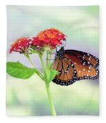 The Queen Of Butterflies  Fleece Blanket