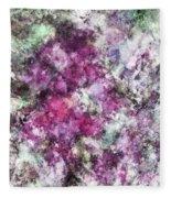 The Quiet Purple Clouds Fleece Blanket
