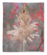 The Red Of Winter Fleece Blanket