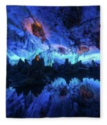 The Reed Flute Cave, In Guangxi Province, China Fleece Blanket