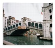 The Rialto Bridge  Fleece Blanket