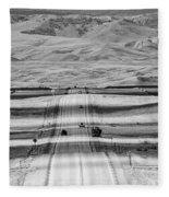 The Road From Casper Fleece Blanket