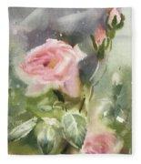 The Rose From A Misty Appalachia Fleece Blanket